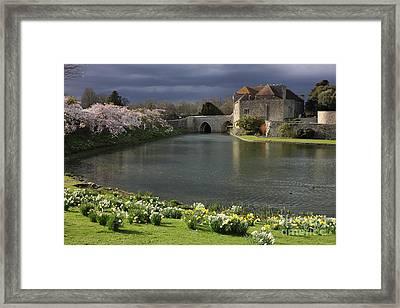 Leeds Castle In Kent United Kingdom Framed Print by Kiril Stanchev