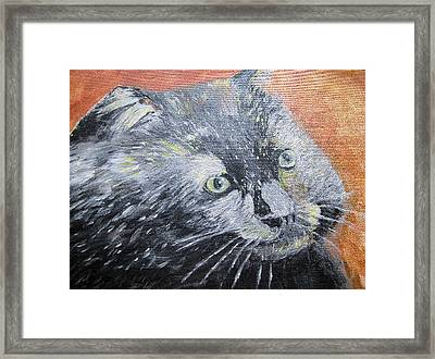 Framed Print featuring the painting Leena 2 by Barbara Giordano