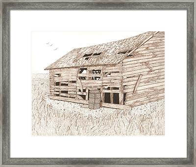 Lee's Barn Framed Print by Pat Price