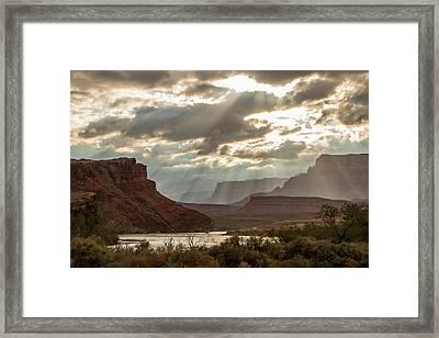 Lee's Ferry At Sunset Framed Print