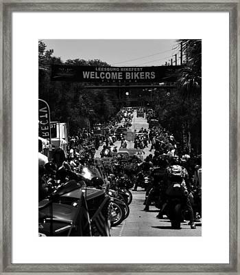 Leesburg Florida 2012 Bikefest Work C Framed Print by David Lee Thompson