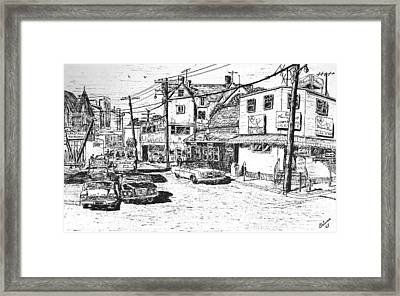 Leeside Tavern Framed Print by Vic Delnore