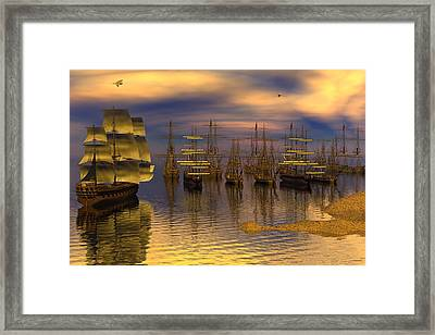 Leeward Anchorage Framed Print by Claude McCoy