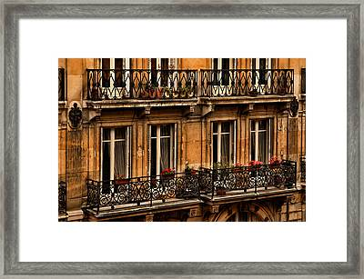Left Bank Balconies Framed Print