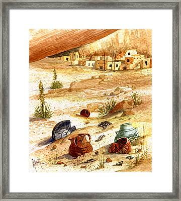 Framed Print featuring the painting Left Behind - Indian Pottery by Marilyn Smith