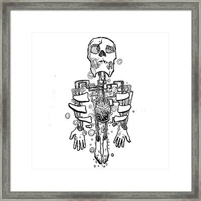Left Behind Mason Jars Framed Print by Doug  Miller II