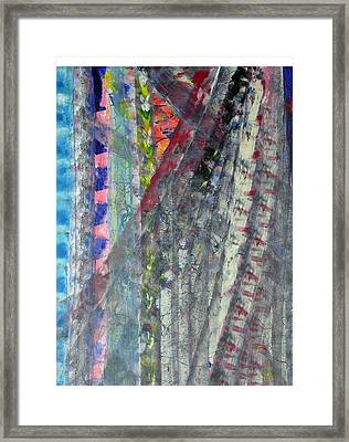 Left Blue Framed Print by Russell Simmons