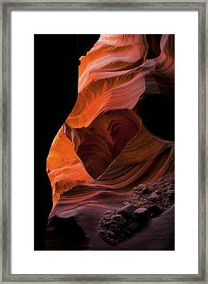 Left By Floodwaters Framed Print by Mike  Dawson