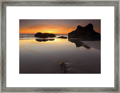 Left By The Tides Framed Print by Mike  Dawson