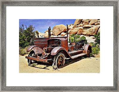 Left For Dead - Joshua Tree National Park Framed Print by Glenn McCarthy