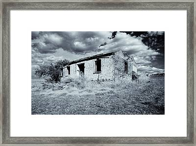 Left In Ruin Framed Print by Mike  Dawson