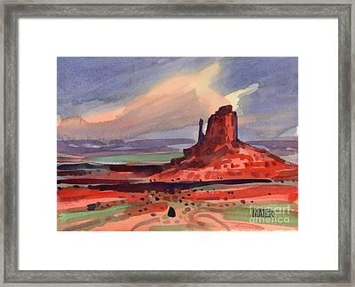Left Mitten At Sunset Framed Print