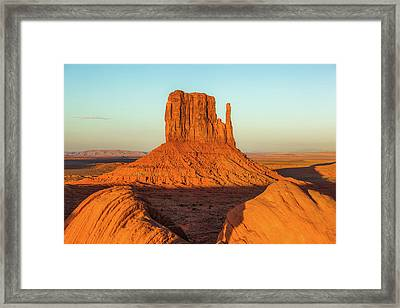Left Mitten Sunset - Monument Valley Framed Print