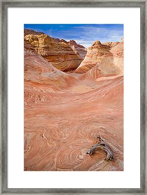 Left On The Wave Framed Print by Mike  Dawson
