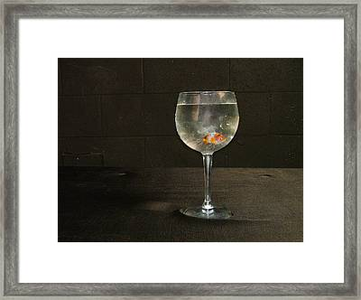 Left Penniless After The Market Crashed In 84 Framed Print by Geerah Baden-Karamally