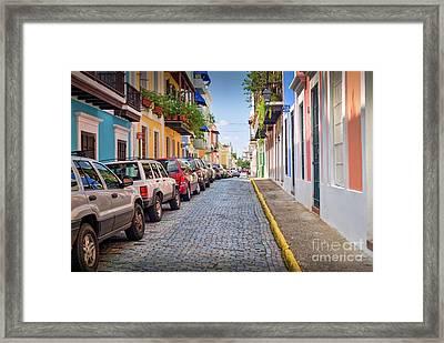 Left Side Parking Framed Print by David Zanzinger