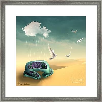 Left To Get Wet By The Desert Framed Print by Mark Ashkenazi