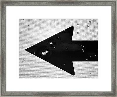 Left Turn Framed Print by Tom Druin