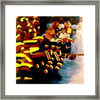 Left Wing Framed Print by Ken Yackel