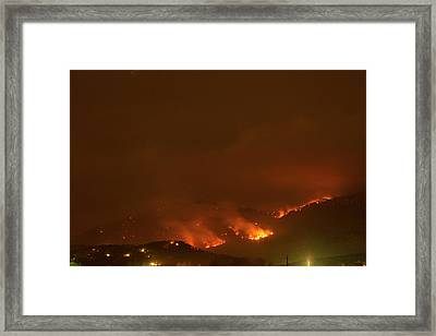 Lefthand Canyon Wildfire Boulder Colorado Framed Print by James BO  Insogna