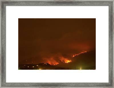 Lefthand Canyon Wildfire Boulder Colorado Framed Print