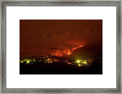 Lefthand Canyon Wildfire Boulder County Colorado 3-11-2011 Framed Print by James BO  Insogna