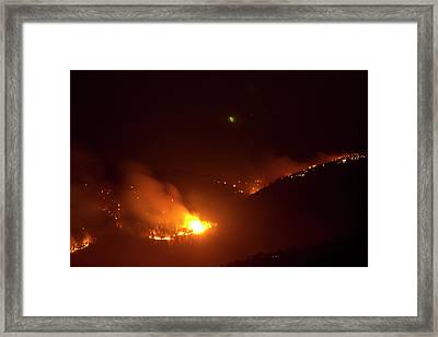 Lefthand Canyon Wildfire Flare Up Boulder County Colorado Framed Print