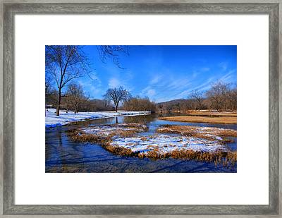 Framed Print featuring the photograph Leftover Snow by Rick Friedle
