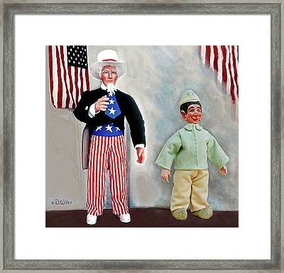 Lefty And Sam Framed Print by David Wiles