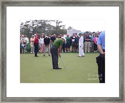 Lefty At The Putting Green Framed Print by David Bearden