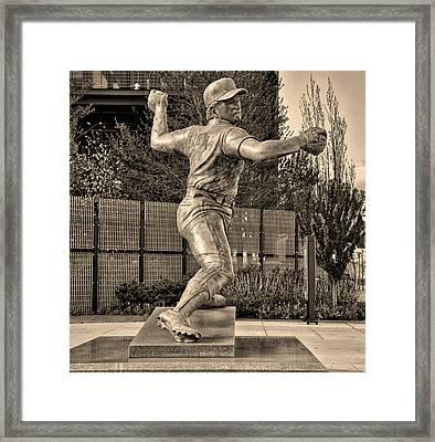 Lefty - Phillie Steve Carlton In Sepia Framed Print by Bill Cannon
