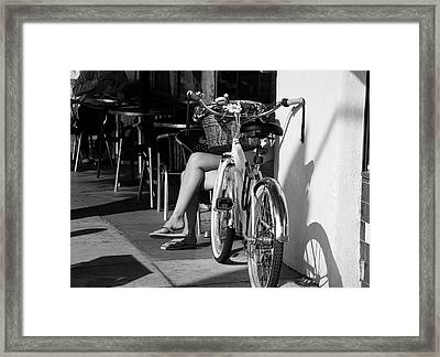 Leg Power - B And W Framed Print