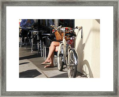 Leg Power - On Montana Avenue Framed Print