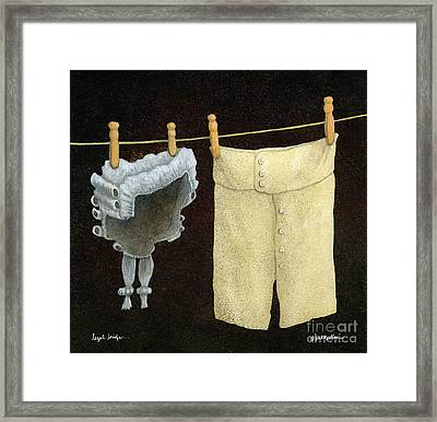 Legal Briefs... Framed Print by Will Bullas
