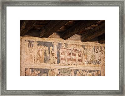 Legend Of Sir Lancelot Medieval Paintings In Ducal Tower Of Sied Framed Print
