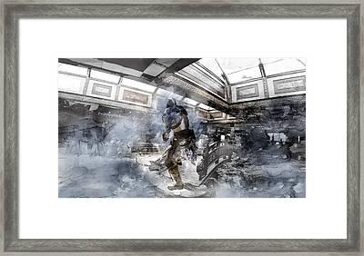 Legend Of The Blue Knight 412 Framed Print by Jani Heinonen