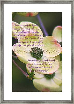 Legend Of The Dogwood Framed Print by ARTography by Pamela Smale Williams