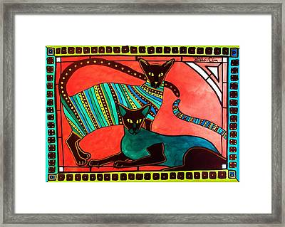 Legend Of The Siamese - Cat Art By Dora Hathazi Mendes Framed Print