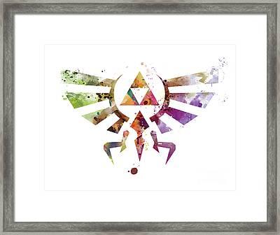 Zelda Framed Print by Monn Print