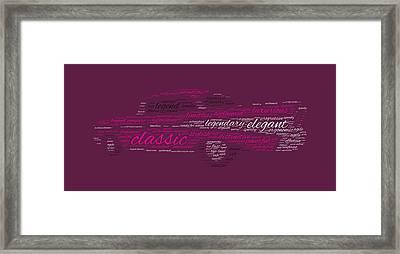 Legendary Chevy Bel Air Framed Print by Felikss Veilands