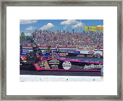 Legends At The Line Framed Print