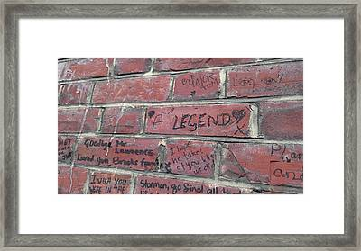 Legend's Legacy Framed Print by JAMART Photography