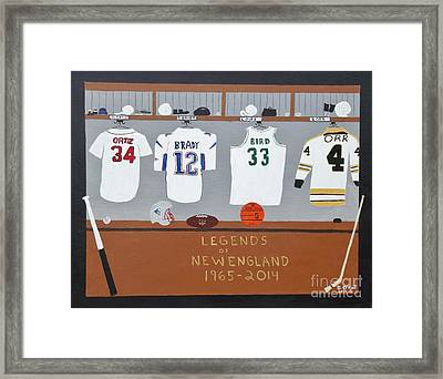Legends Of New England Framed Print
