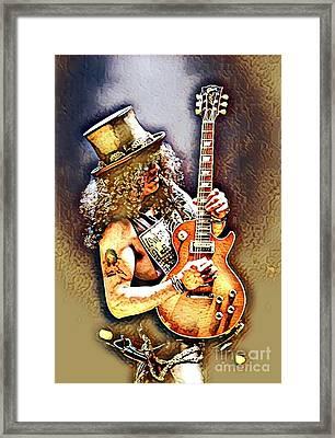 Legends Of Rock - Slash - Sweet Child Framed Print