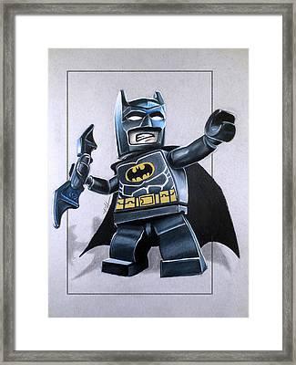 Lego Batman Framed Print by Thomas Volpe