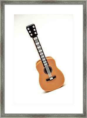 Lego Guitar Framed Print by Samuel Whitton