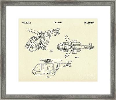 Lego Helicopter-1994 Framed Print by Pablo Romero