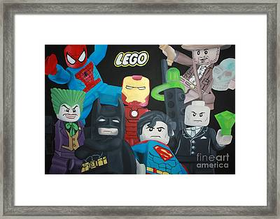 Lego Hero's Framed Print by Laura Mancini
