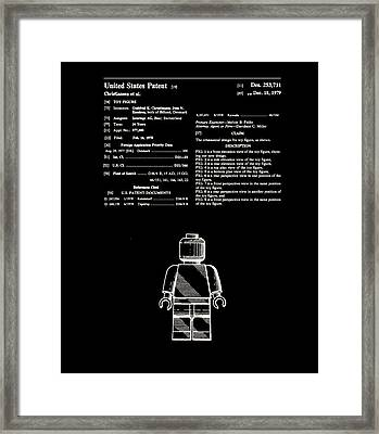 Lego Man Patent 1979 Framed Print by Claire Doherty