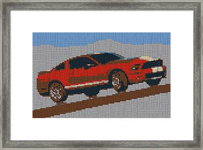 Lego Mustang Framed Print by Dan Sproul